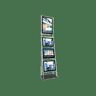 vm mobile stand vitrine affichage led lumineuse
