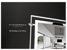 minibook vm c2 max vitrinemedia vitrine lumineuse miniature