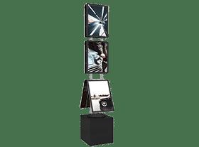 vm box premium support porte affiche led lumineux categorie page