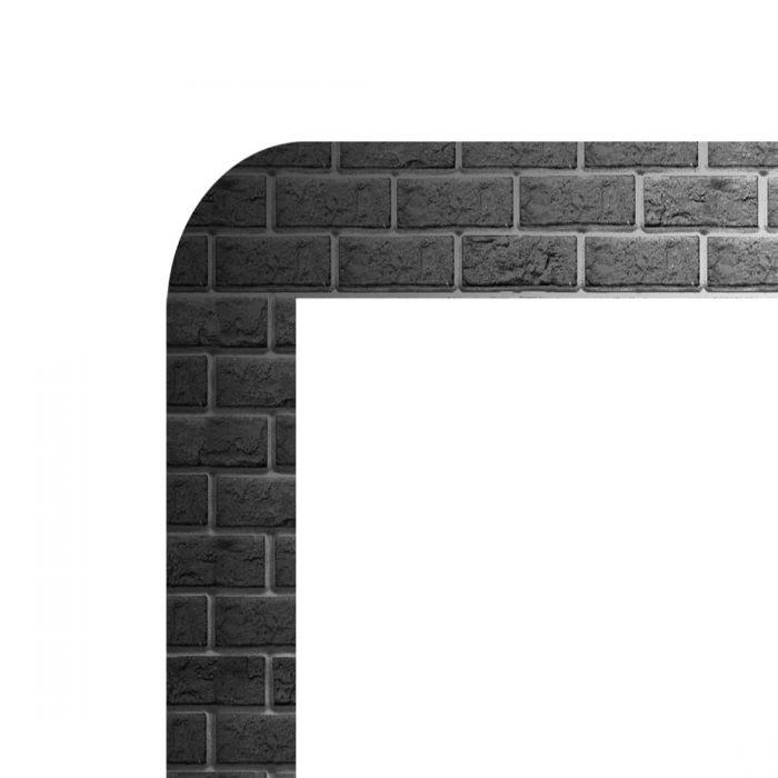 Cadre pour afficheur lumineux vm two colors motif briques noires
