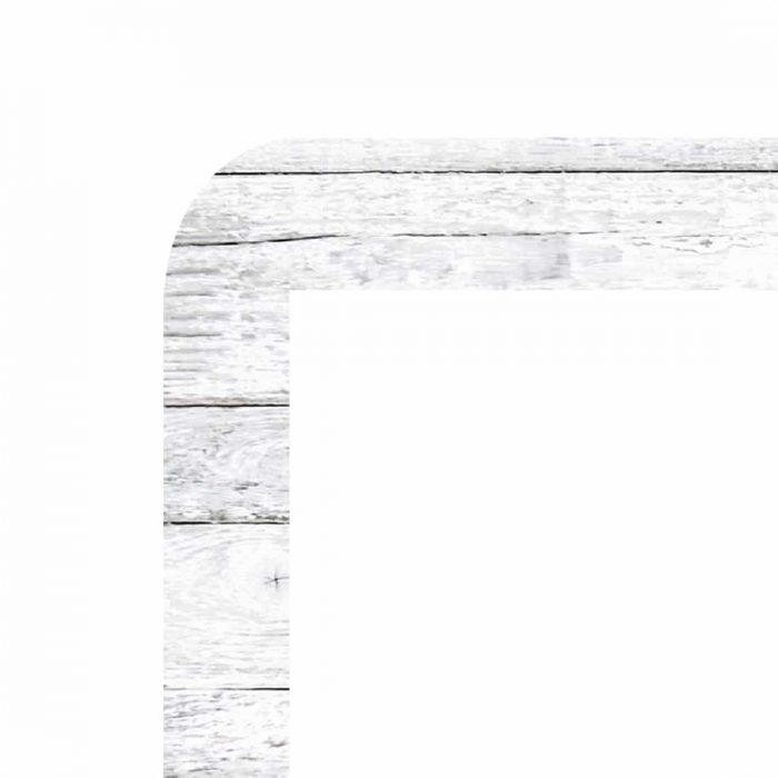 cadre pour vitrine led porte affiche vm two colors motif boisé blanc