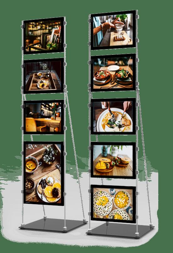 vm mobile stand affichage led page produit