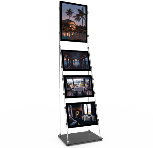 vm mobile stand support affiche page produit