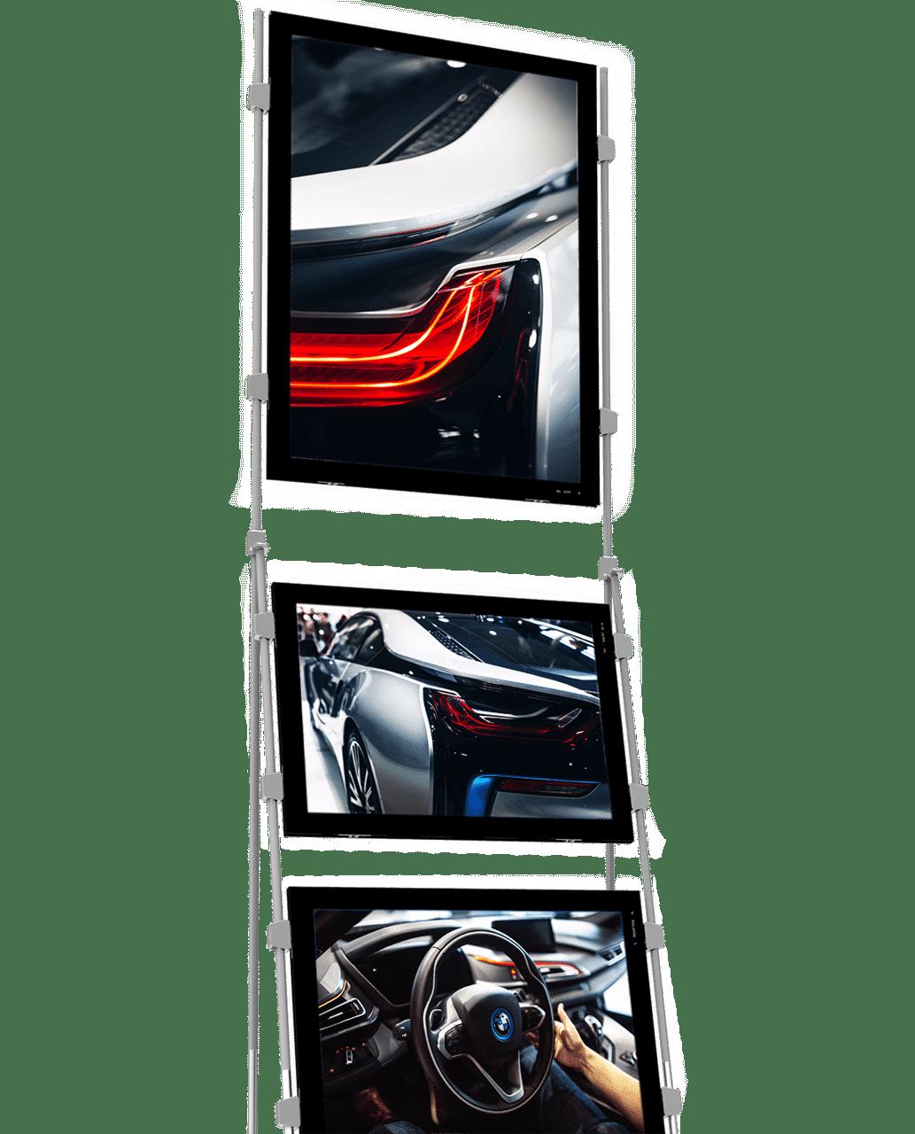 vm mobile stand vitrine dynamique affichage exterieur page produit
