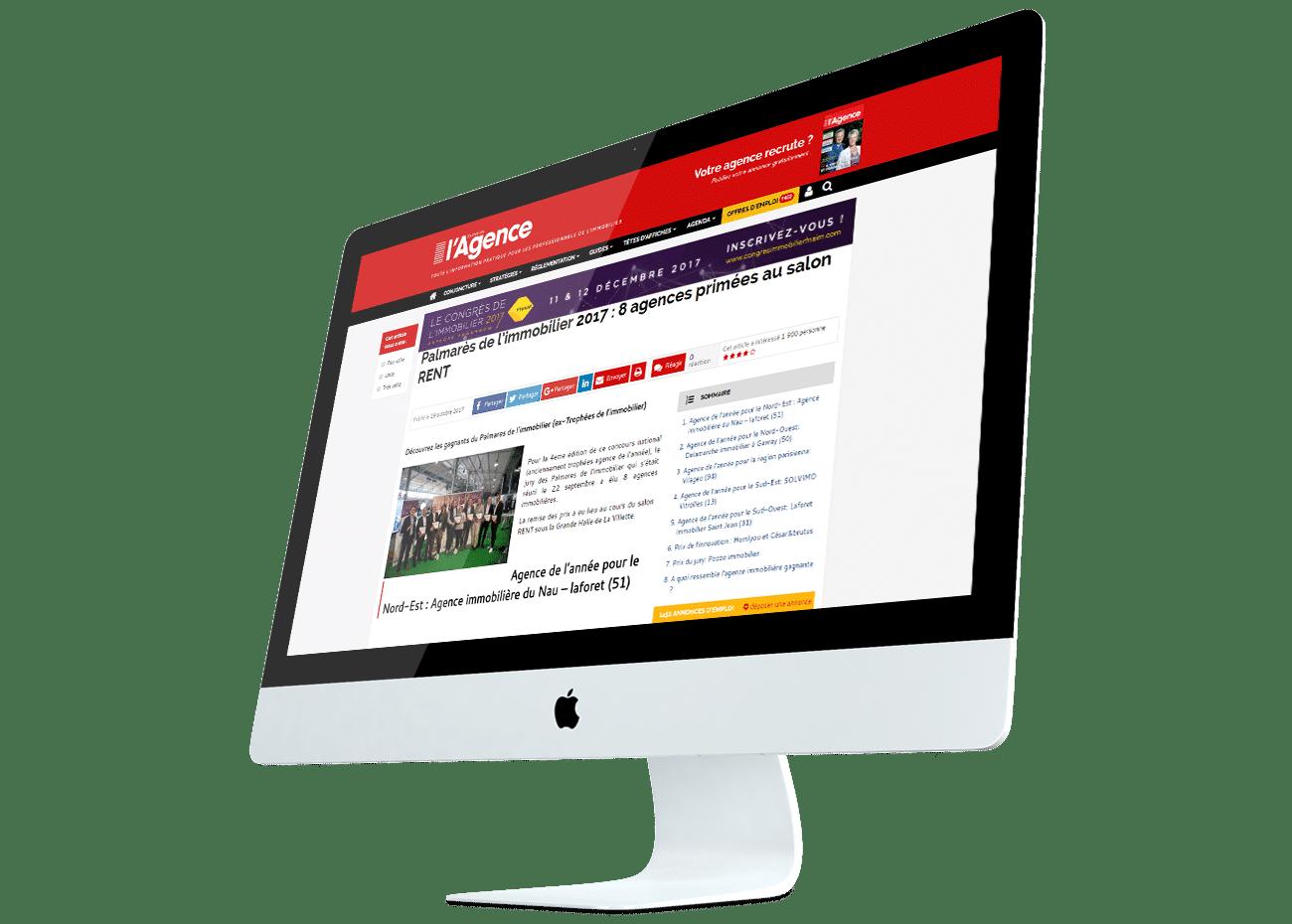 presse journal de lagence article palmares immobilier vitrinemedia afficheur lumineux vitrine eclairee