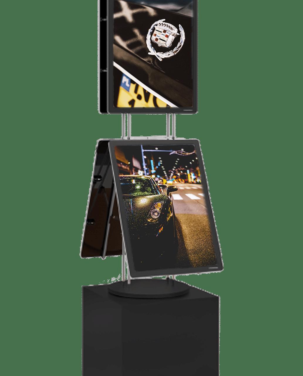 vm box premium porte affiche lumineux led page produit