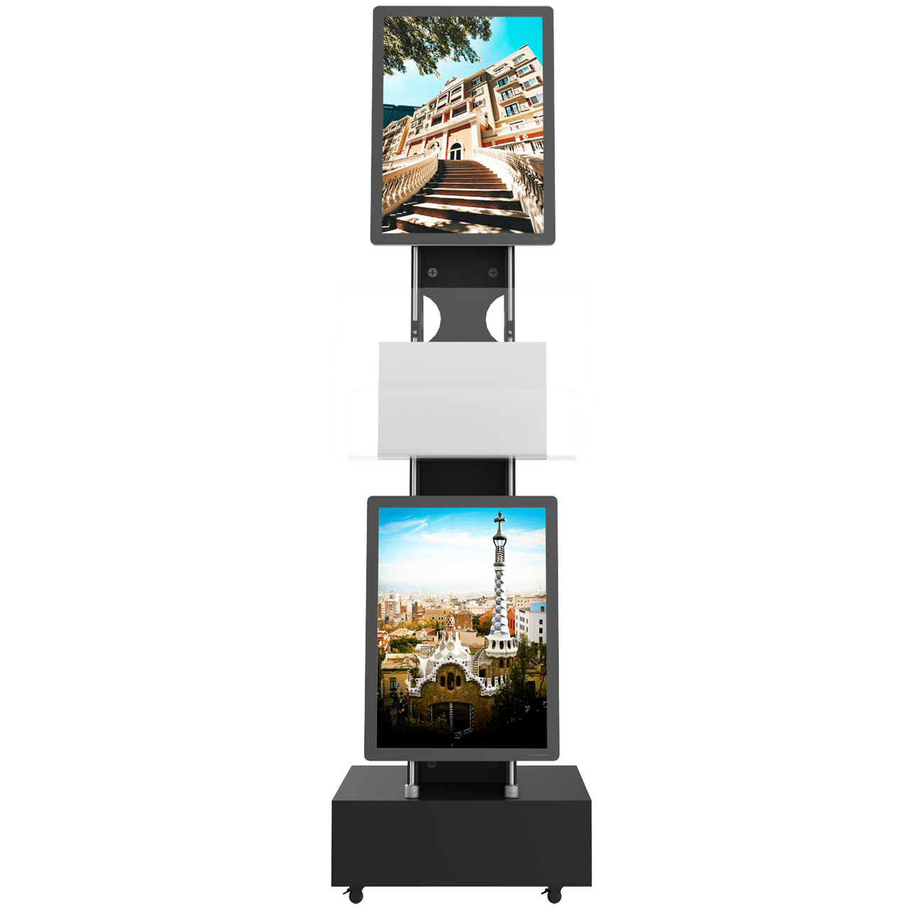 vm mobile stand double sided support lumineux led page produit