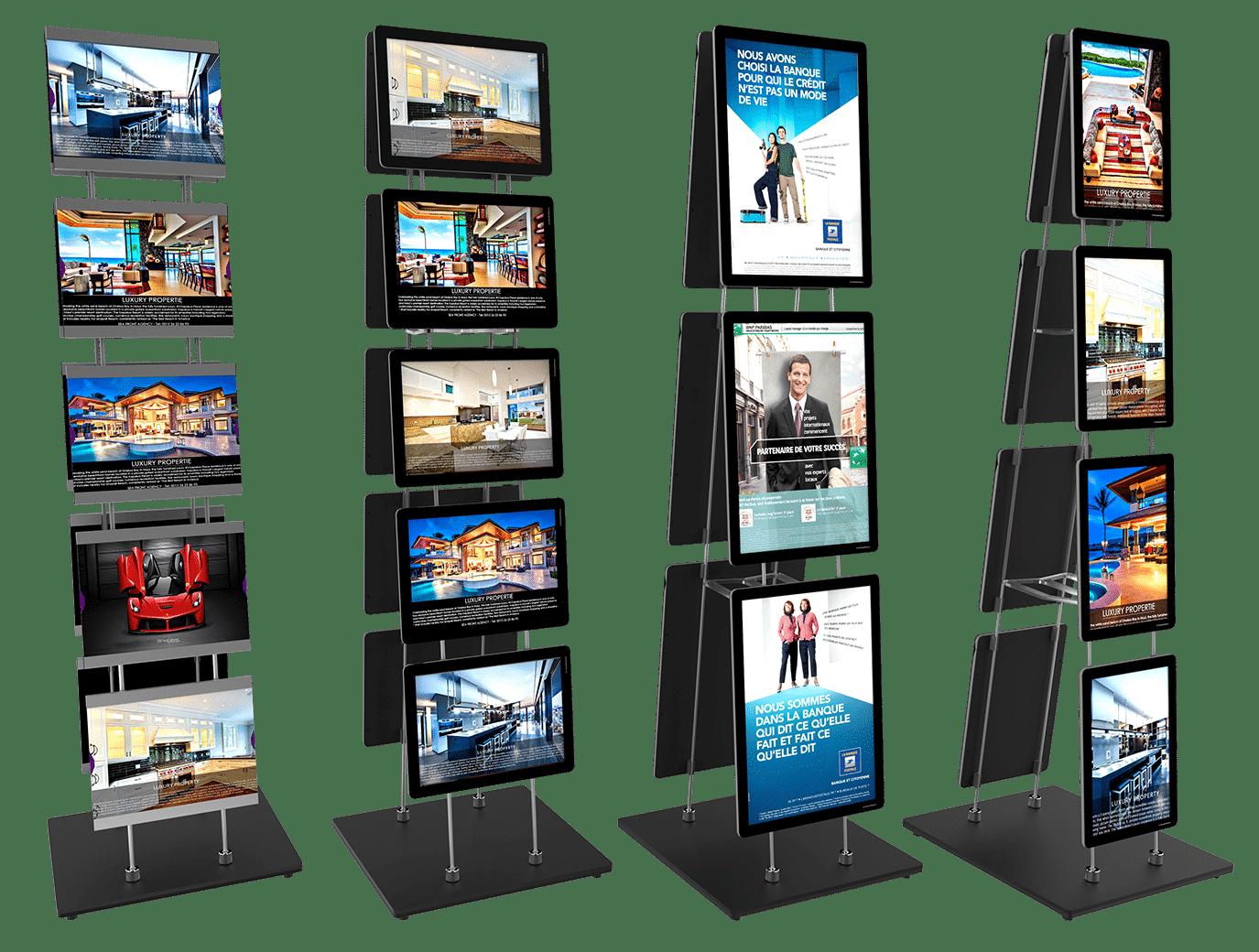 vm mobile stand easy clip porte affiche lumineux led page produit