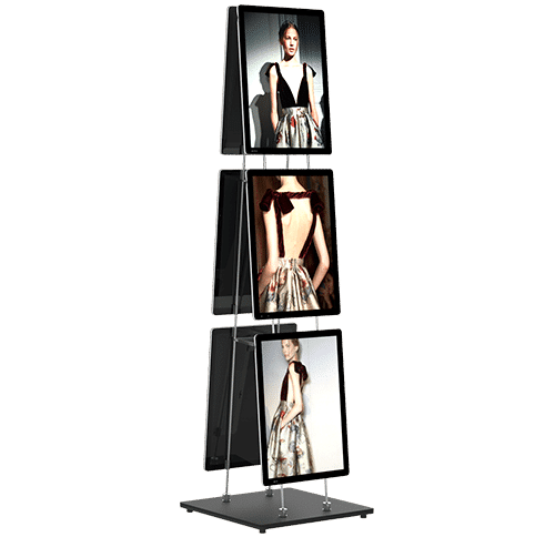 vm mobile stand easy clip support affiche led lumineux page produit