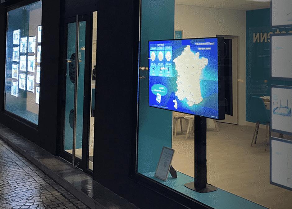 vitrine lcd vitrinemedia porte affiche dynamique