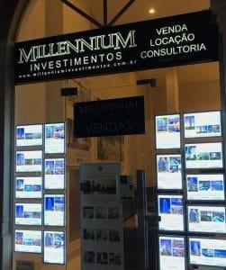 MIllennium Investimentos com painéis da VitrineMedia