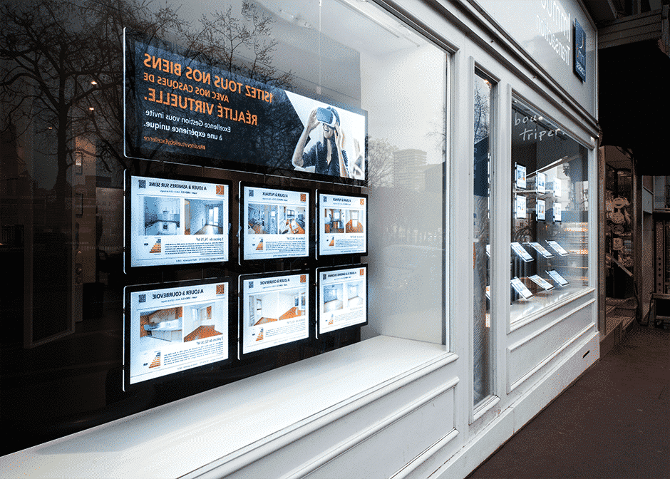 Painel e Display LED para Imobiliária