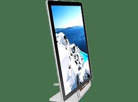 Painel VitrineMedia para uso em balcão, modelo VM Single, ideal para lojas