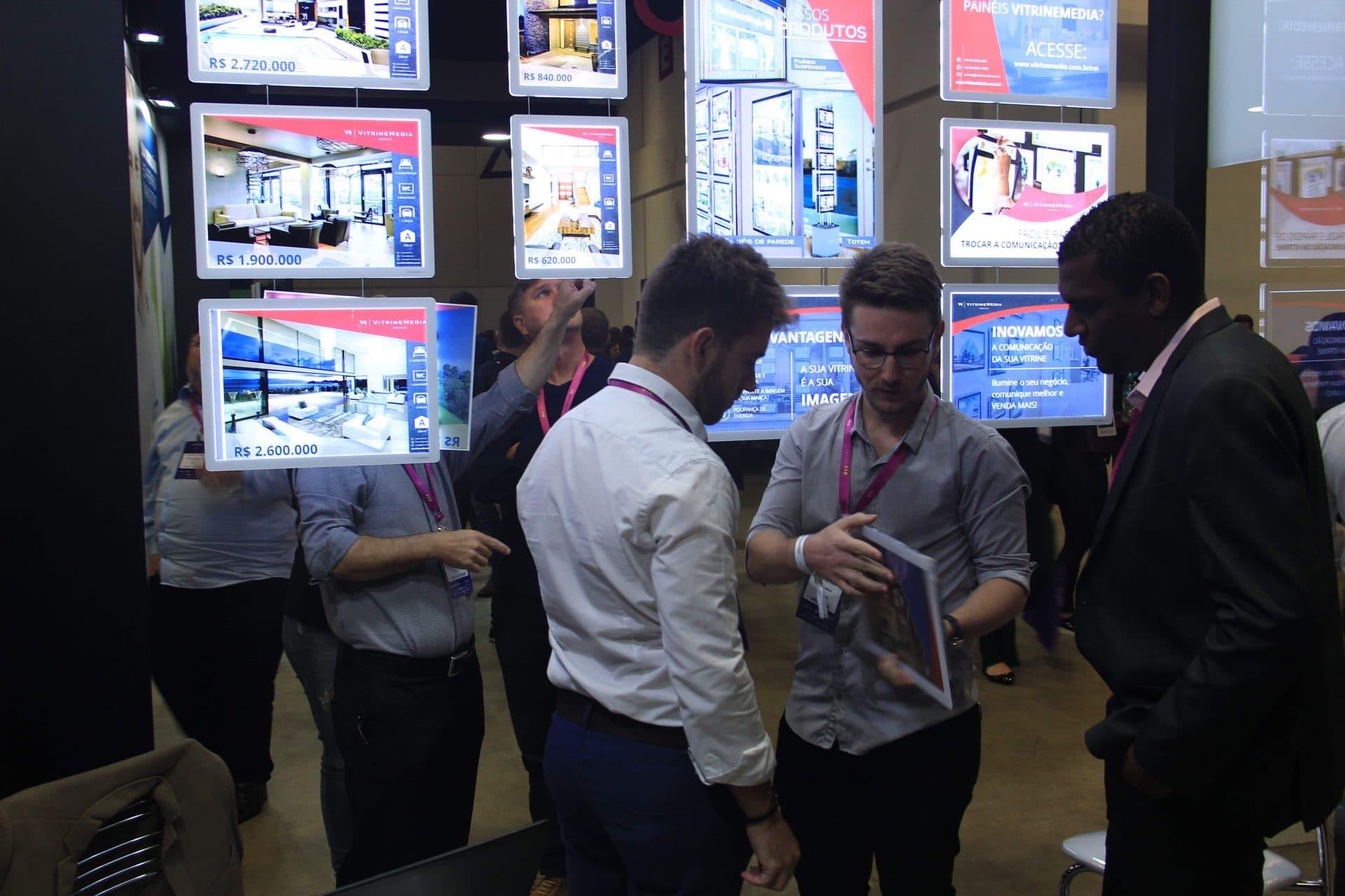 Painéis da VitrineMedia fizeram sucesso no ConectaImobi
