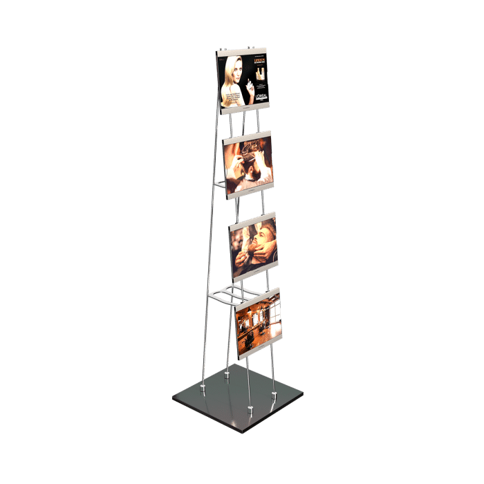 superlight stand afficheur lumineux led mobile cote
