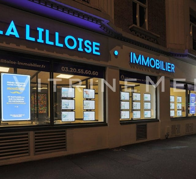 Painel de LED em Acrílico – Modelo VM TWO – Imobiliária La Lilloise