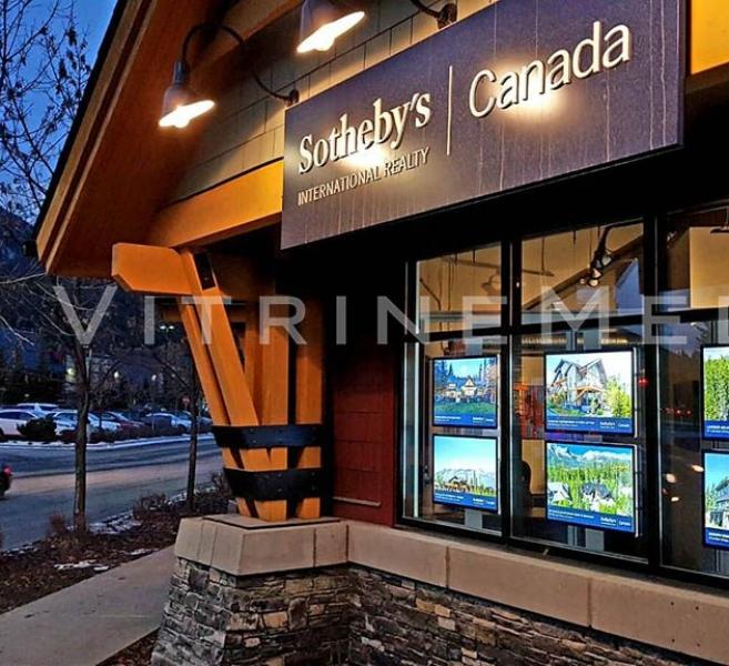 Painel de LED em Acrílico – Modelo VM TWO – Imobiliária Sotheby's Canadá