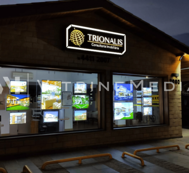 Painel Luminoso LED – Modelo VM TWO -Trionalis Consultoria Imobiliária