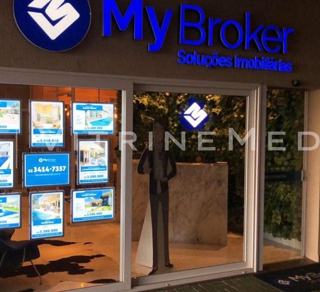 Painel Luminoso LED – Modelo VM TWO – Imobiliária My Broker